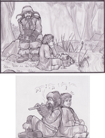 Bilbo and Bofur by EleEstel