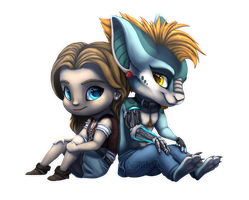 Chibi Ari and Seven by Nordeva