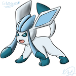 Glaceon by Kamzez97