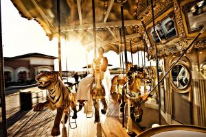 Carousel Bride by MikeRossPhotography