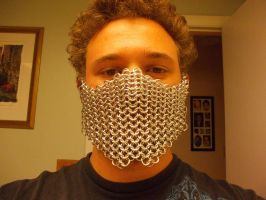 Chainmaille Mask Prototype by Werbenjagermanjensen
