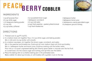 Peach Berry Cobbler Recipe by dizzyflower28