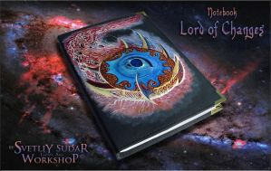 Leather Notebook Lord of Changes by Svetliy-Sudar