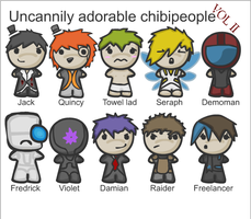 Uncannily ... Chibipeople II by ShadowStarry