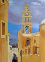 Santorini Clock Tower by vinny53