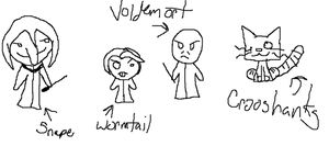 Snape, Wormtail, and Voldemort by Cinnamon-Stix