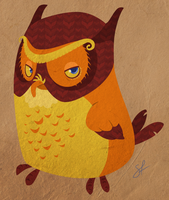 Menlo the Owl by shayfifearts
