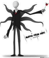 Slenderman with rose by Reyzuken