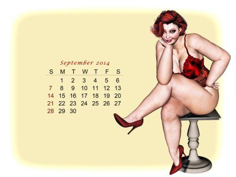 Pinup Number Thirty-Two: Calendar Girl (September) by wcpelon