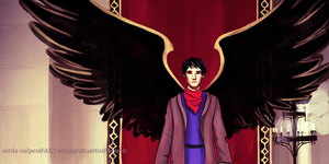Angel Merlin by zerda-vulpes