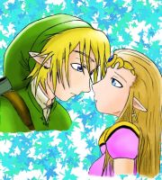 Link and Zelda in love by yu-AF
