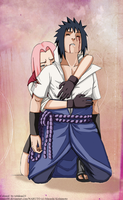 Sasusaku_escaping _colored by tobikun23