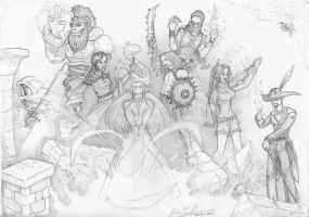DnD Party - Cycles of Emeria by Faedus