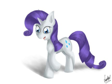 Rarity (painting test) by LuGiAdriel14