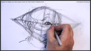 Draw An Old Man's Face In Two Point Perspective 19 by drawingcourse