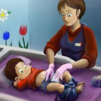 Commission: Caiden - Daycare diaper change by dcrisisbeta