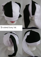 black and white bunny hat by wolffang56