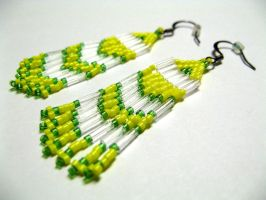 Beaded Earrings 1 by KatWynn