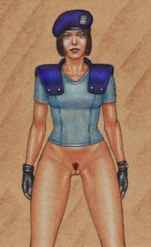 Jill bottomless (pubic hair version) by edithemad