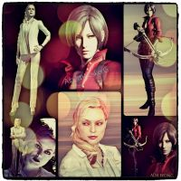 Alex Wesker and Ada Wong Wallpaper! by AlbertWeskerG