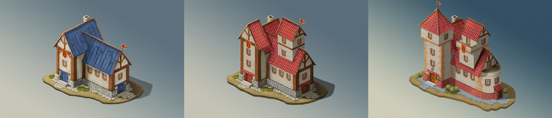 Game design - Town hall upgrades by air87art