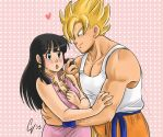 Goku and Chichi by camlost