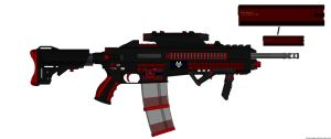 DII/Specter Ind. SIRX-AR5000 Heavy Assault Rifle by Lord-DracoDraconis