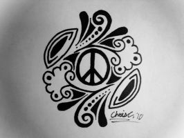 Peace Sign Tattoo Design by TickleMeHoHo