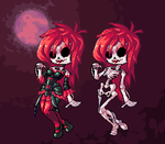 Skeleton Lady (Patreon poll) by The-Jackbowser