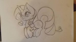 Collab Sketch - Rarity by LunarTails