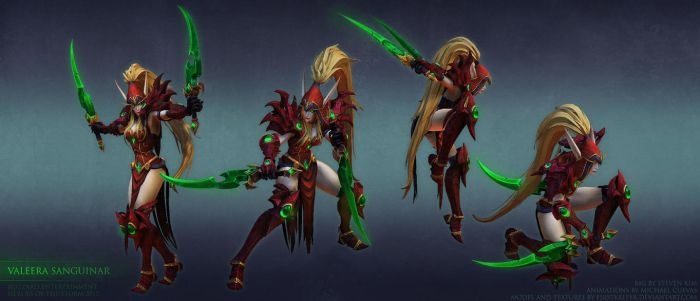 Valeera base poses by FirstKeeper
