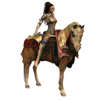 Free resource warrior and horse by CatONineTales