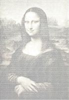 ASCII Mona Lisa by mikenu