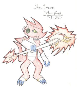 Shoutmon gets serious by AzureMarcus