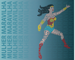Wonder Woman Typography Draw by Hokumei