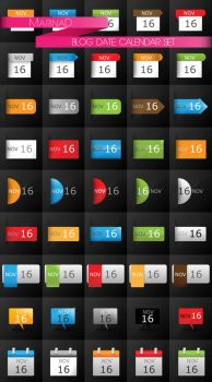 FREE Date Calendar Icon Set for Blo by MarinaD