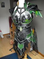 druchii female armor and the costume (unfinish) 2 by Deakath