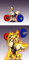 Weight Lifting Evolution by Coshi-Dragonite