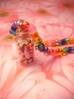 rainbow sprinkles necklace by leggsXisXawsome