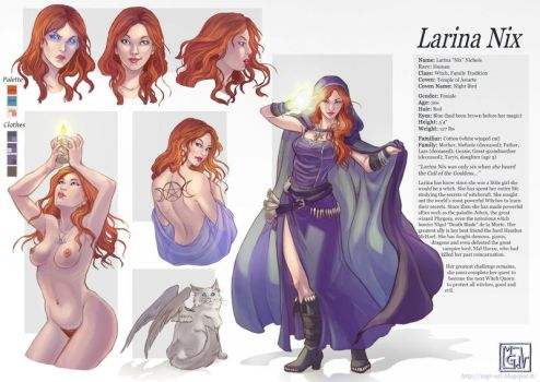 Commission 74 Larina charachter sheet by LadyDeddelit