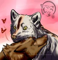.:RotG:. Delly x Ikah by BlueWolfieART