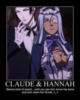 Claude + Hannah demotivational by ViciousValentine