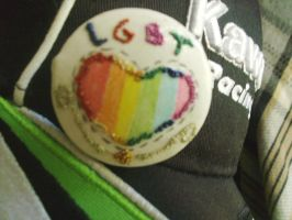 LGBT button - hand made by Squeek98j