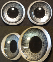 2 Inch 3d Grey Eyes by DreamVisionCreations