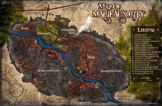 Malifaux City Map by Lyno3ghe