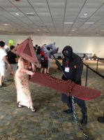Otakon 2013 - Pyramid Head and Bogeyman by TujoThePanda