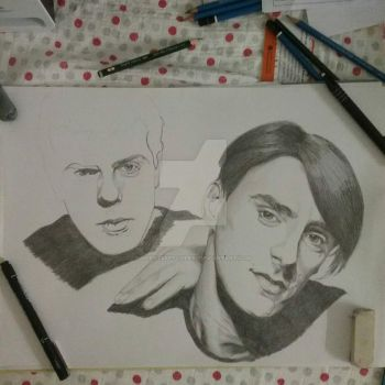 Paul Weller and Mick Talbot, The Style Council WIP by silentsketcher97