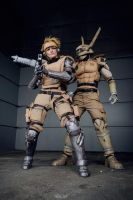 Appleseed Deunan and Briareos III (ECG finale) by Hime-sOph