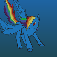 Landing Rainbow Dash by Whitefire8