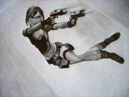 Tomb Raider- Double Guns by daughterdragon